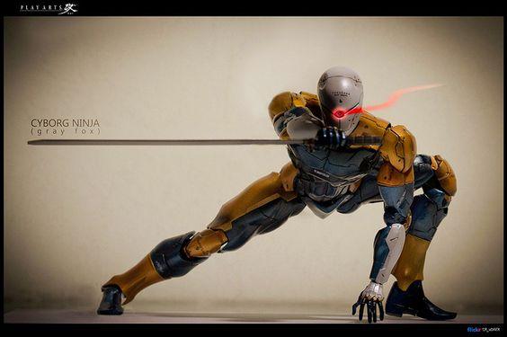 Cyborg Ninja (Gray Fox) - Metal Gear Solid - Play Arts Kai by sir_winger, via Flickr