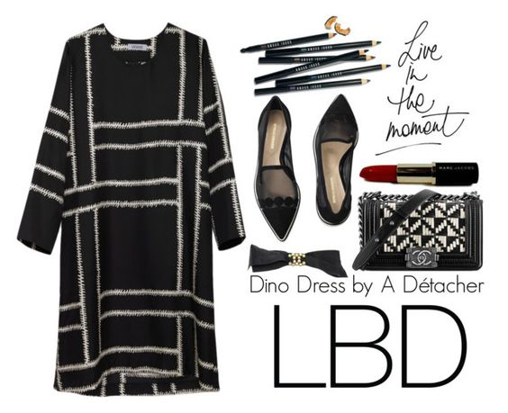 """""""Little Black Dress"""" by miica-olavarria ❤ liked on Polyvore featuring A Détacher, Chanel, Nicholas Kirkwood and Bobbi Brown Cosmetics"""
