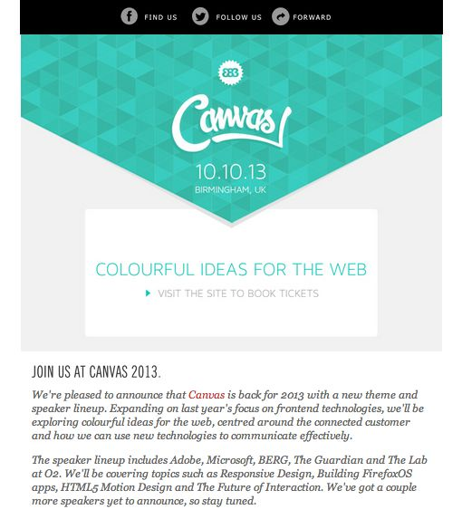 26 email newsletters inspiration youll love design for Corporate newsletter design inspiration