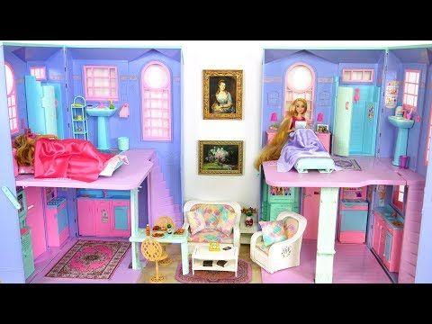 Barbie Rapunzel Talking House Morning Routine باربي بيت الدمية Casa De Boneca Barbie Youtube Barbie Playsets Barbie Collection Barbie