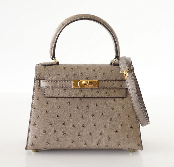 birkin bag inspired - HERMES KELLY bag 20 Vintage Gray Ostrich Mini gold hdw Mint ...