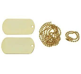 MFH US Erkennungsmarken, gold / mehr Infos auf: www.Guntia-Militaria-Shop.de