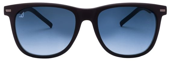 Shop online for Vincent Chase VC 5187 Matte Black Blue Gradient C12 Wayfarer Sunglasses @ Rs.1299
