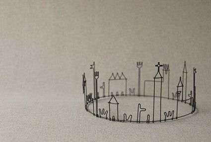 round town. wire sculpture. masao seki.- remember making things like this at art school