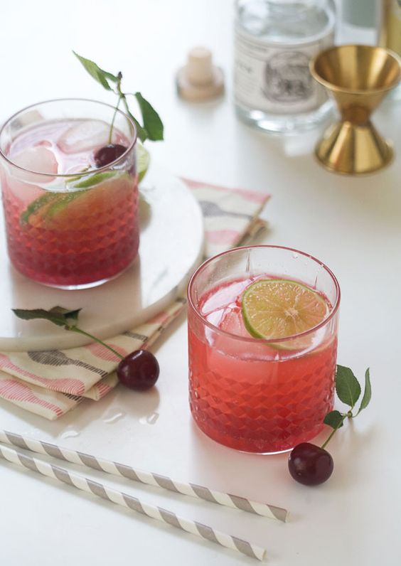 Sour Cherry Gin and Tonic recipe #PBSFood. http://www.annabelchaffer.com/categories/Wine-Accessories/