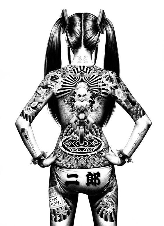 Les illustrations explosives de Shohei Otomo, le fils du célèbre créateur d'Akira
