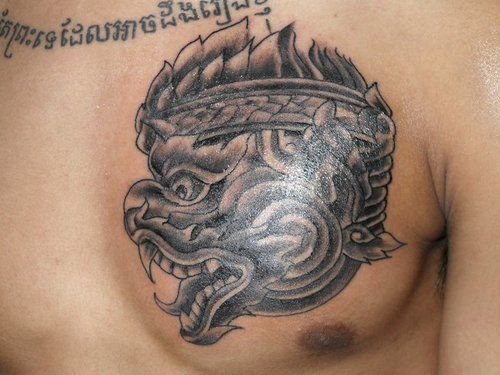 Cambodian Hanuman Tattoo Hanuman | Khmer Tattoo...