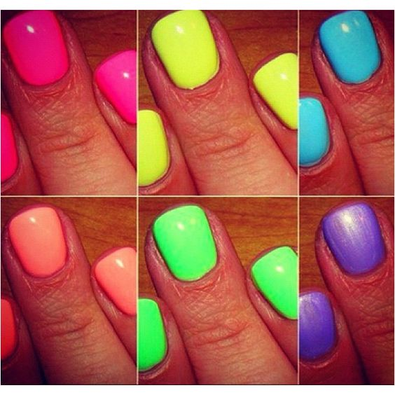 Neon polish for the summer
