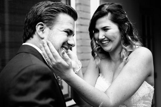 First look   Bruiloft door de Kievit Bruiloften Bruidsfotografie