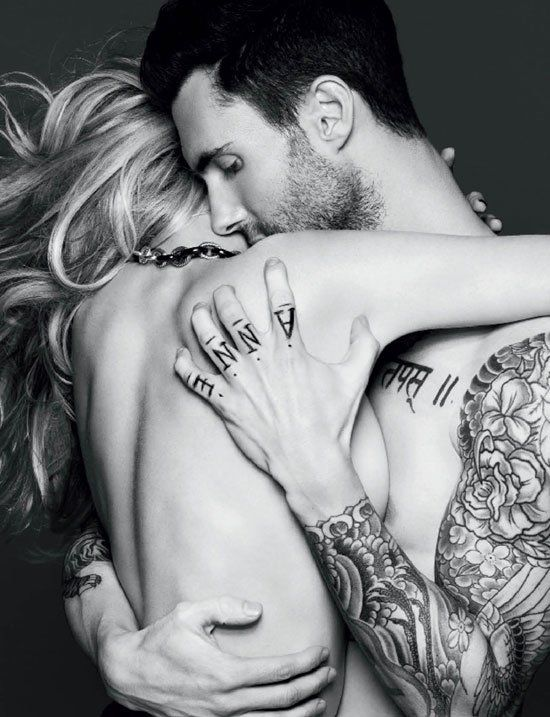 Pin for Later: You Can't Help but Appreciate Adam Levine's Good Looks When He Left You Jealous With This Hot Embrace