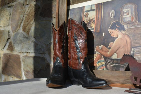Vintage Black Woman's Cowboy Boots Vintage by Vintassentials