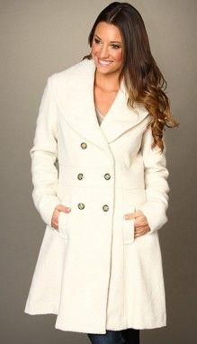 White Pea Coat Womens