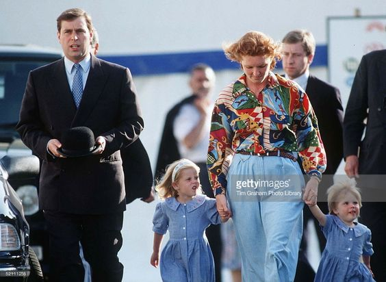 --May 16, 1992---Duke And Duchess Of York With Their Children Princess Beatrice And Princess Eugenie At Royal Windsor Horse Show After Their Official Separation.