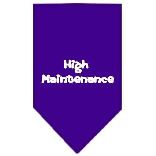High Maintenance Screen Print Bandana Purple Small