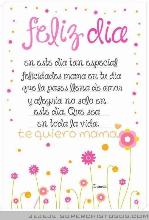 Poemas Bonitas Cartas Para El Dia De La Madre Carta Para Mama Dia De Las Madres Feliz Cumpleanos Mama Feliz