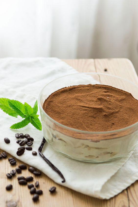 Vegan tofu tiramisu __________________________ 300 grams (14 ounces ) extra firm tofu 250 grams (8.8 ounces) raw cashews 1/2 cup freshly brewed espresso 1/4 cup raw sugar 1/8 teaspoon salt 1 tablespoon lemon 1/4 cup raw sugar 1 tablespoon coco powder