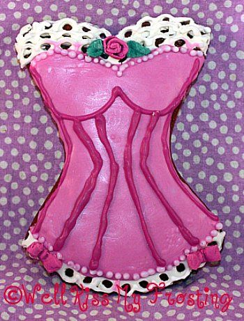 Victorian Corset Cookie 2 by well kiss my frosting, via Flickr