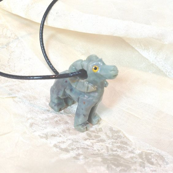 Upcycled Turquoise Ram Unisex Necklace for Chinese Year of the Sheep, Upcycled Hand-Carved Animal Totem by Southwest Native American,  NorthCoastCottage Jewelry Design & Vintage Treasures on Etsy.com, $89.00