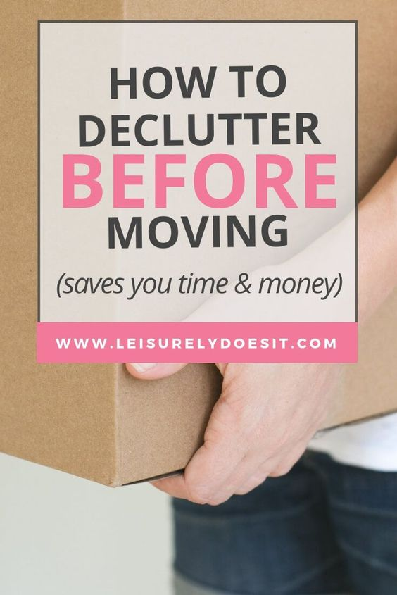 Planning to move into a new home? It's a great time to get rid of things you no longer use or need. Here are some simple tips about how to declutter before moving. #movingtips #movinghouse #decluttering #ldi via @Leisurely Does It