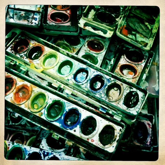 Hipstamatic iPhone Photo WATERCOLOR PAINTS by Christian Montone, via Flickr