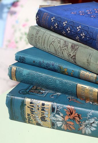 beautiful antique books