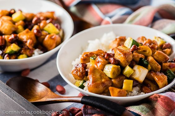 Kung pao chicken - a quick version that only requires 20 minutes to prepare. Use this method and you'll always create moist and tender chicken with no fuss!   omnivorescookbook.com