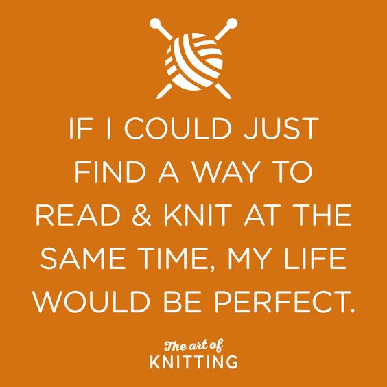I have!l thanks to audibles! Nothing like getting lost in a book and knitting! More