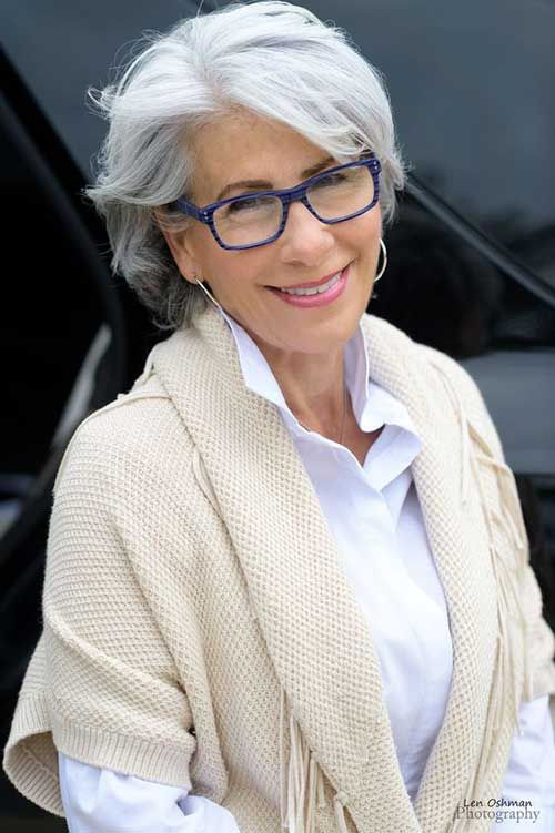 Latest Short Haircuts For Classy Older Women Grey Hair