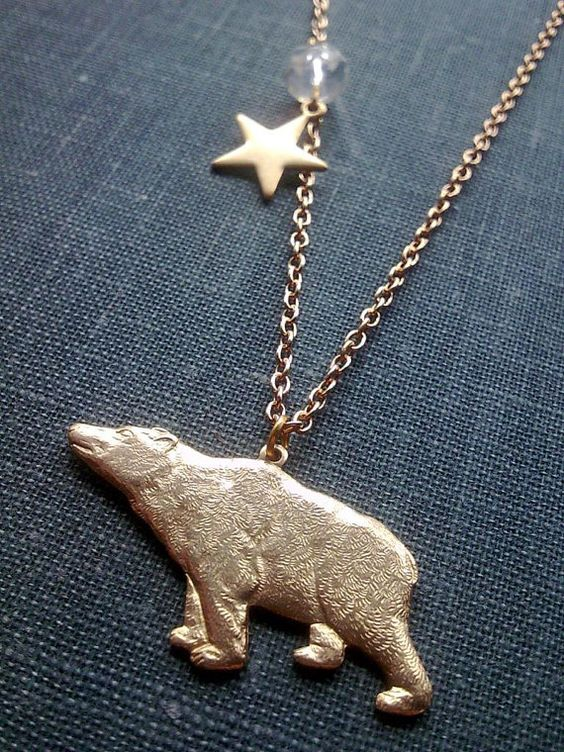 The Bear and the North Star Necklace by TheMysticalPug on Etsy, £8.50