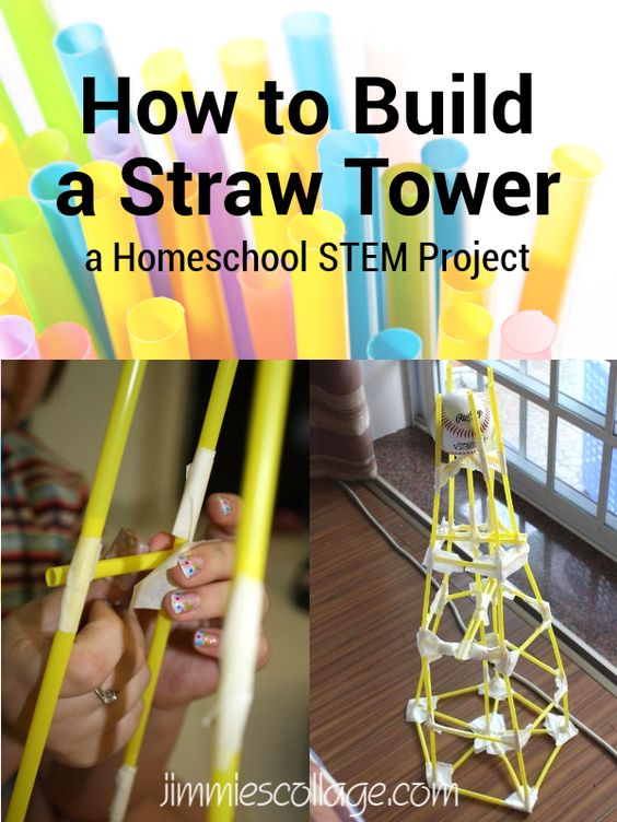 How To Build A Straw Tower Homeschool Stem Project Ihn