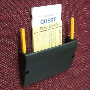 Church Chair Card Amp Pencil Holder Pew Supply Holder