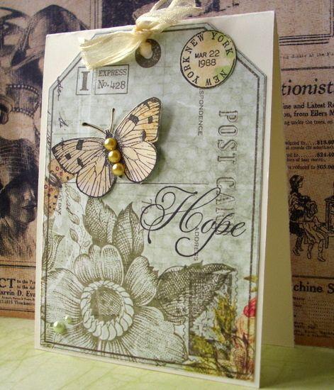 postcard tag stamp - hero arts