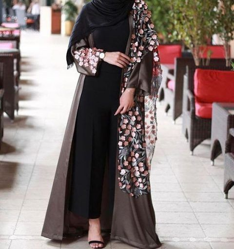 Fancy Lace Embroidered Abaya Designs Latest Collection 2020 2021 Abayas Fashion Abaya Designs Latest Abaya Designs