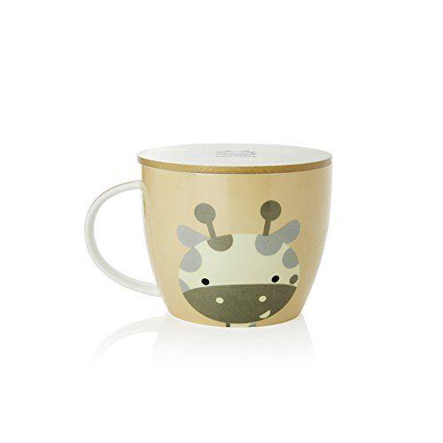 Upstyle Cute Coffee Mug Animal Pattern Ceramic Cup Travel Mug With Bamboo Lid For Instant Noodle Vegetables Fruit 304oz Cmbm6 Cute Coffee Mugs Mugs Coffee Mugs