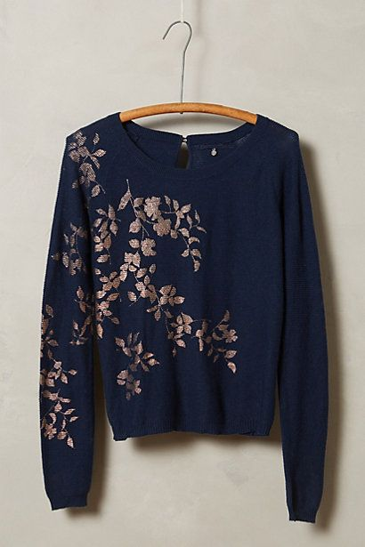 foil printed pullover - pretty to dress up or down