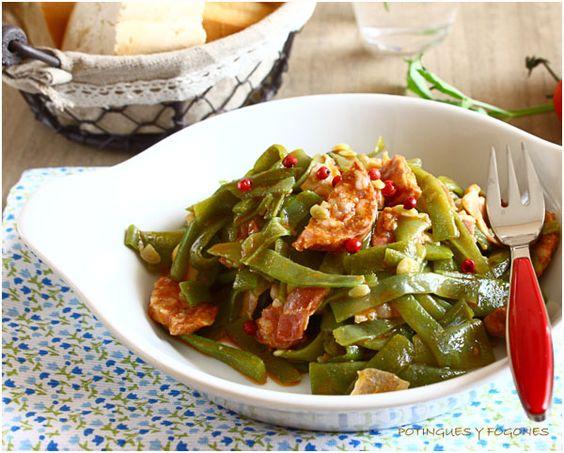 POTINGUES Y FOGONES: Judías verdes con bacon