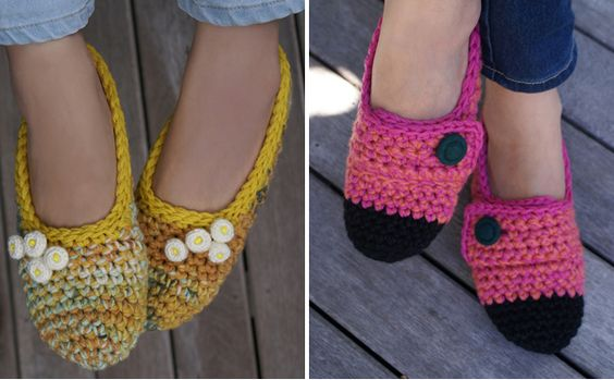 Luulla Handmade's slippers have the cutest accents.