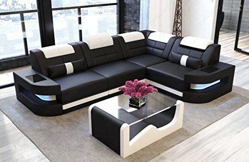 Sofa Dreams Ledersofa Como L Form Schwarz Weiss Modern Sofa Designs Modern Sofa Living Room Luxury Sofa Design