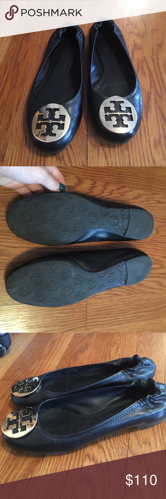 Tory Burch Flats Worn three times, really great condition! Tory Burch Shoes
