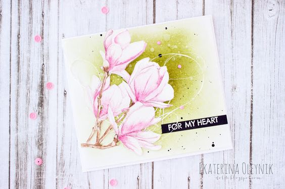 part of my Life: Watercolor branch of a magnolia for Watercolor Blog Hop from PPP