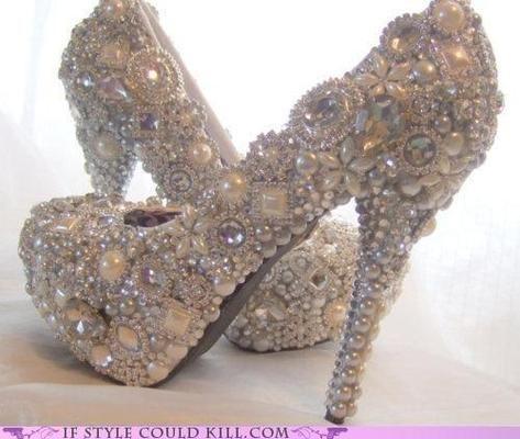 Pearl encrusted Heels