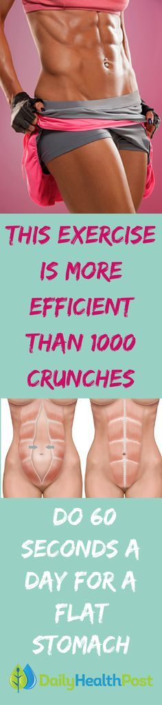 This Exercise Is More Efficient Than 1000 Crunches: Do 60 Seconds a Day For a Flat Stomach