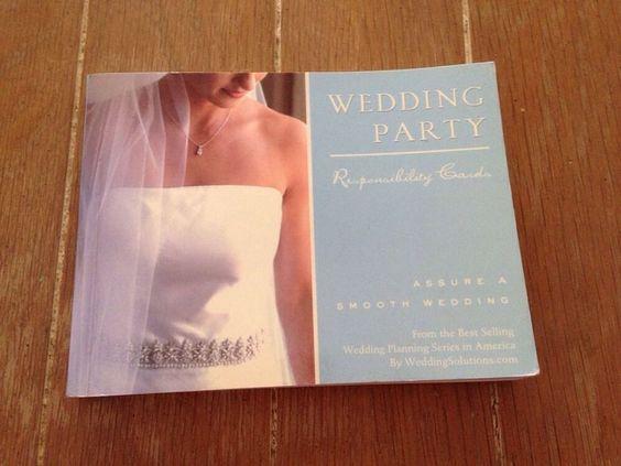 Wedding Party Responsibility Cards by Alex Lluch and Elizabeth ...