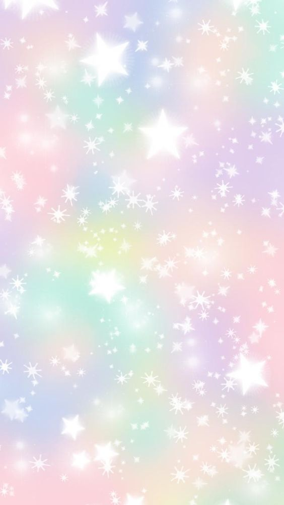 Pastel stars iPhone wallpaper