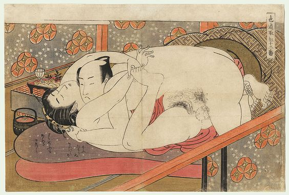 Lovers and Go Board, ca 1775 by Koryusai (1735 - 1790)
