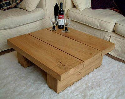 Square Medium Solid Oak Coffee Table Tables Pinterest And