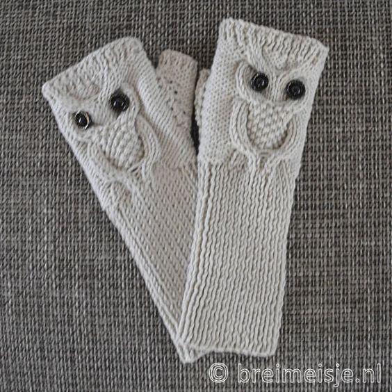 Handschoenen zonder toppen breien - gratis patroon: