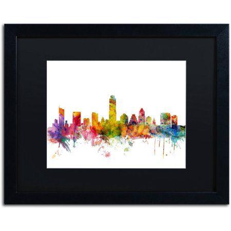 Trademark Fine Art \'Austin Texas Skyline\' Canvas Art by Michael ...