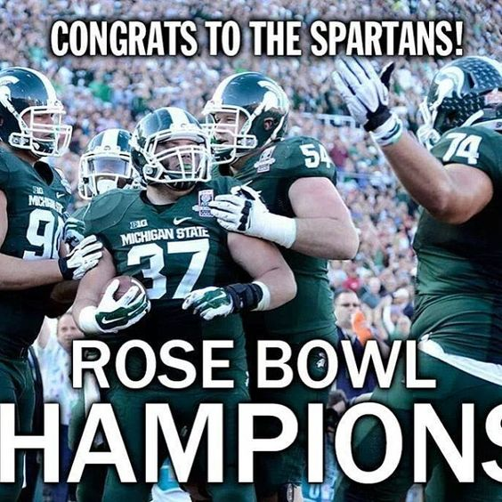 #msu #michiganstate #rosebowl #champs #Stanford #2014 #Padgram
