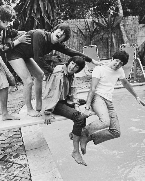Richard Starkey, John Lennon, George Harrison, and Paul McCartney...such cheeky lads